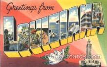 LLS001355 - Louisiana, USA Large Letter State States Postcard Postcards