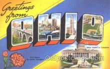 LLS001356 - Ohio, USA Large Letter State States Postcard Postcards