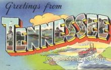 LLS001357 - Tennessee, USA Large Letter State States Postcard Postcards