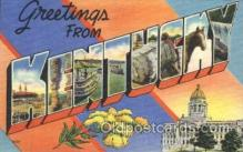 LLS001358 - Kentucky, USA Large Letter State States Postcard Postcards
