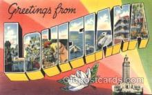 LLS001359 - Louisiana, USA Large Letter State States Postcard Postcards