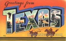 LLS001361 - Texas, USA Large Letter State States Postcard Postcards