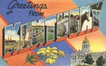 LLS001364 - Kentucky, USA Large Letter State States Postcard Postcards