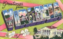 LLS001368 - Virginia, USA Large Letter State States Postcard Postcards