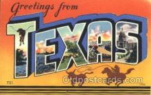 LLS001370 - Texas, USA Large Letter State States Postcard Postcards