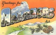 LLS001372 - Arkansas, USA Large Letter State States Postcard Postcards