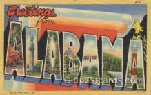 LLS001376 - Alabama, USA Large Letter State States Postcard Postcards