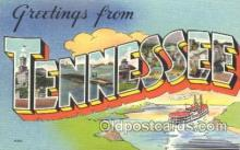 LLS001378 - Tennessee, USA Large Letter State States Postcard Postcards