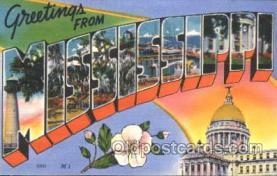 LLS001379 - Mississippi, USA Large Letter State States Postcard Postcards