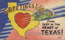 LLS001404 - Texas Greeting, USA Large Letter State, States Postcard Postcards