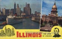 LLS001407 - The land of Lincoln, Illinois, USA Large Letter State, States Postcard Postcards
