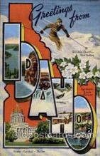 LLS001419 - Idaho Large Letter State States Post Cards Postcards