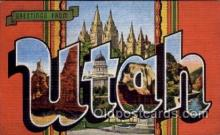 LLS001424 - Utah Large Letter State States Post Cards Postcards