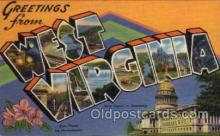 LLS001432 - West Virginia Large Letter State States Post Cards Postcards
