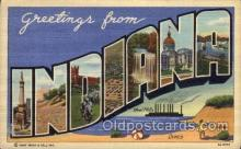 LLS001434 - Indiana Large Letter State States Post Cards Postcards