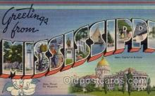 LLS001437 - Mississippi Large Letter State States Post Cards Postcards