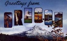 LLS001443 - Oregon Large Letter State States Post Cards Postcards