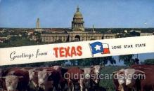 LLS001447 - Texas Large Letter State States Post Cards Postcards