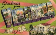 LLS001448 - Virginia Large Letter State States Post Cards Postcards