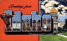 LLS001450 - Idaho Large Letter State States Post Cards Postcards
