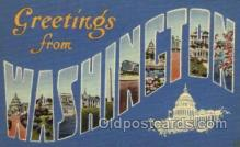 LLS001451 - Washington Large Letter State States Post Cards Postcards
