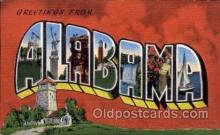 LLS001457 - Alabama Large Letter State States Post Cards Postcards
