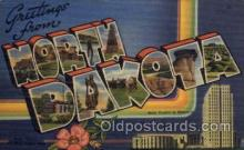 LLS001462 - North Dakota Large Letter State States Post Cards Postcards