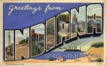 LLS001464 - Indiana Large Letter State States Post Cards Postcards