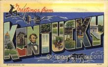 LLS001471 - Kentucky Large Letter State States Post Cards Postcards