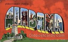 LLS001472 - Alabama Large Letter State States Post Cards Postcards