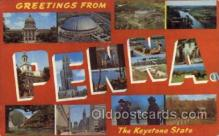 LLS001477 - Pennsylvania Large Letter State States Post Cards Postcards