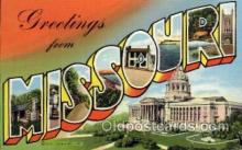LLS001484 - Missouri Large Letter State States Post Cards Postcards