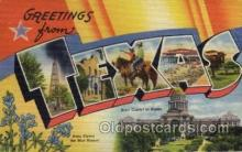 LLS001486 - Texas Large Letter State States Post Cards Postcards