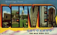 LLS001489 - Denver Large Letter State States Post Cards Postcards