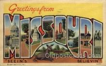 LLS001491 - Missouri Large Letter State States Post Cards Postcards