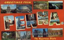 LLS001497 - Pennsylvania Large Letter State States Post Cards Postcards