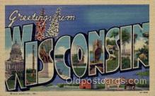 LLS001503 - Wisconsin Large Letter State States Post Cards Postcards