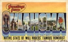 LLS001504 - Oklahoma Large Letter State States Post Cards Postcards