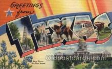 LLS001506 - Texas Large Letter State States Post Cards Postcards