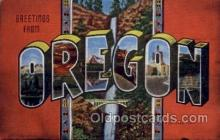 LLS001513 - Oregon Large Letter State States Post Cards Postcards