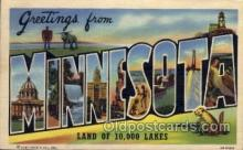 LLS001516 - Minnesota Large Letter State States Post Cards Postcards