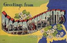 LLS001519 - Massachusetts Large Letter State States Post Cards Postcards