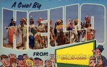 LLS001521 - Oklahoma Large Letter State States Post Cards Postcards