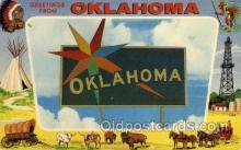 LLS001526 - Oklahoma Large Letter State States Post Cards Postcards