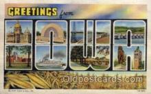 LLS001528 - Iowa Large Letter State States Post Cards Postcards