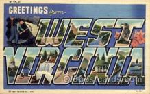 LLS001531 - West Virginia Large Letter State States Post Cards Postcards