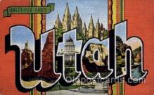 LLS001533 - Utah Large Letter State States Post Cards Postcards