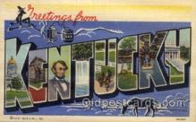 LLS001535 - Kentucky Large Letter State States Post Cards Postcards