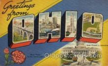 LLS001543 - Ohio Large Letter State States Post Cards Postcards