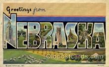 LLS001544 - Nebraska Large Letter State States Post Cards Postcards